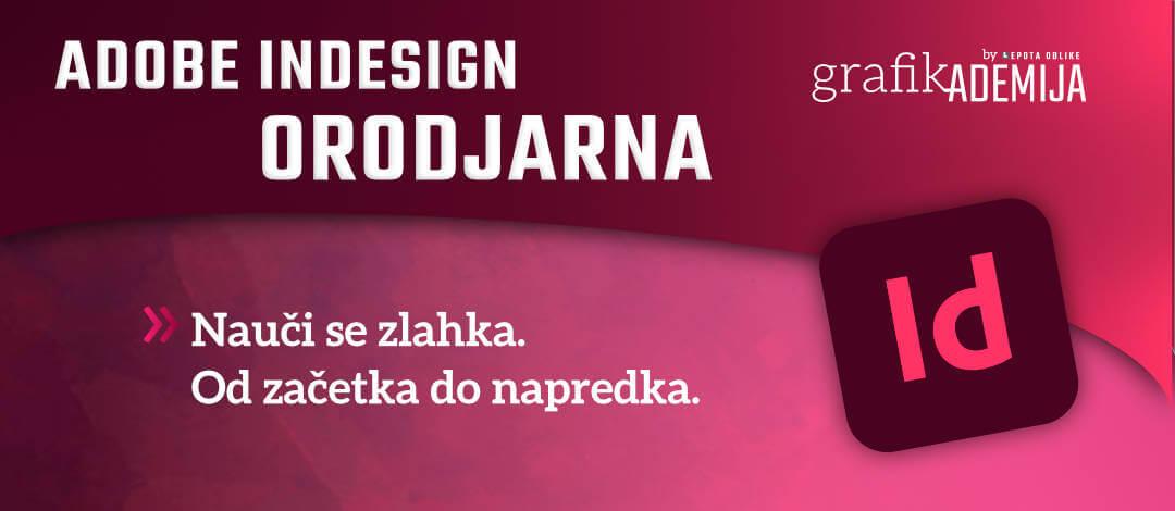 Adobe InDesign − orodjarna
