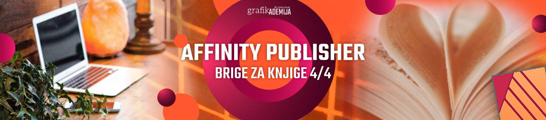Tecaj Affinity Publisher brige za knjige